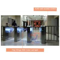 Buy cheap IC / ID Card RFID Turnstile Access Control Automatic Flap Barrier Gate from wholesalers