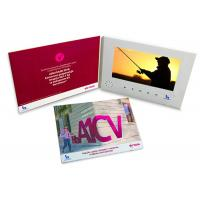 Quality Soft Cover / Hardcover LCD Invitation Card Digital Video Brochure 7 Inch Screen for sale