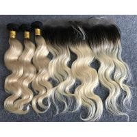 "Buy cheap Long Russian Ombre Human Hair Extensions Body Wave With Ear to Ear 13""x4"" Lace from wholesalers"