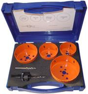 Quality 6pcs High Speed Steel M3 Bi Metal Hole Saw Kit , HSS Metal Cutting Hole Saw Set for sale