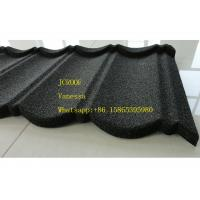 China Stone Coated Metal Roof Tile size 1300*420mm Thickness 0.45mm Roman Tile JC109 Green Black on sale