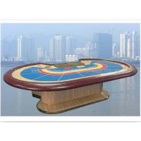 Buy cheap 9 Person Mahogany PU Leather Armrest Casino Baccarat Table Gaming Galaxy Poker Table product