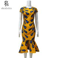 Buy Ankara Fishtail African Print Dresses , Traditional African Women's Clothing at wholesale prices