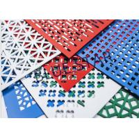 Quality Aluminum Perforated Metal Sheet Round / Crocodile Jaw Hole 45° / 60° Puchend Hole Mesh for sale