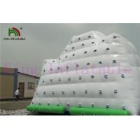 0.9mm PVC Tarpaulin White / Green Inflatable Water Toy Giant Iceberg For Water