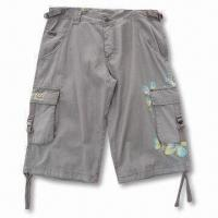 Quality Men's Short, Made of 100% Cotton, Enzyme Wash for sale