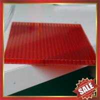 China Red Hollow polycarbonate Sheet,color hollow polycarbonate sheet,cell polycarbonate sheet,pc sheeting for building cover on sale