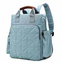 Wide Open Baby Changing Backpacks Top Zipper Pocket