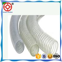 Quality HELIX SPIRAL RUBBER HOSE STEEL WIRE REINFORCED SUCTION AND DISCHARGE PVC STEEL WIRE HOSE for sale