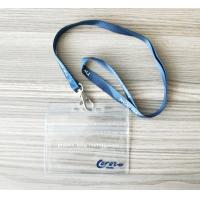 China Horizontal Name Badge Holders Kit Clear Plastic Name Tags With Woven Lanyards on sale