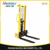 Quality Warehouse used hand pallt lifter 3000kg 1.6m hydraulic manual stacker with foot pedal for sale