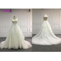 Quality Glamorous Country Organza A Line Ball Gown Wedding Dress For Big Girls Plus Size for sale