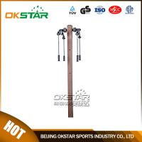 China outdoor gym equipment equipment park wood outdoor arm stretcher on sale