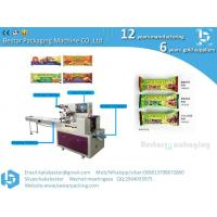 Buy Flow Pack Chapati Cake Popsicle Protein Bars Energy Granola Bar Sandwich Chocolate Cookie Biscuit Packaging Machine at wholesale prices