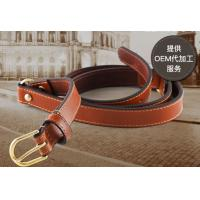 Quality Custom Made Womens Braided Leather Belt In Brown Color And Black Color for sale