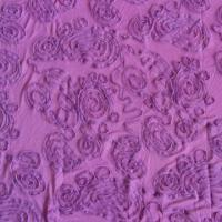 Sequin Embroidered Fabric with Applique Fabric
