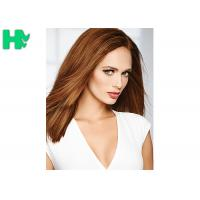 Quality Popular Brown Color Synthetic Front Lace Wigs High Temperature Fiber Straight Hair Wig for sale