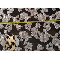 Quality Fashion Chenille Embroidered Lace Fabric , Polyester Mesh Fabric For Dresses for sale