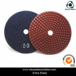 Quality velcro backed wet stone diamond polishing pads/marble abrasive tools for sale