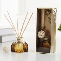 China Decorative Home Reed Diffuser Natural Essential Oil Aroma Glass Bottle Reed Diffuser on sale