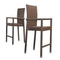 China Espresso Rope Outdoor Bar Chairs on sale