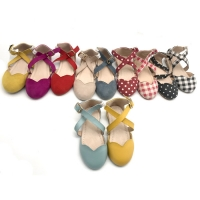 China Leather Baby Walking Shoes Ballet Flats Ankle Strap Dress Shoes Sandals on sale
