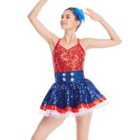 Buy cheap Amazing Tap Costume Race Back Dance Dress Performance Wear from wholesalers