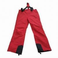 Quality Ski Pants, Made of 100% Polyester Oxford, with PU Milky Coating Materials for sale