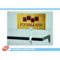 MDF Wooden CNC Engraving LOGO Display Brand For Retail Shop , UV Painting