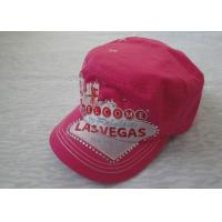 Quality 100% Cotton Sports Caps Hats With Adjustable Velcro / Snapback for sale