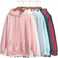 China Wholesale custom pure color blank cheap women hoodie on sale