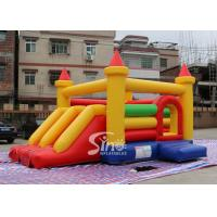 Quality Kids rainbow inflatable combo bouncy castle with slide made in China inflatable factory for sale