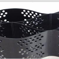 Quality Smooth Surface HDPE Geocell 100mm Height  Black Color With Hole for sale
