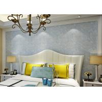 Buy cheap Soundproof Removable European Style Wallpaper , Blue 3d Silver Wallpaper product