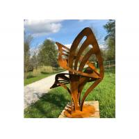 Buy Rusty Modern Art Metal Outdoor Sculpture Abstract Corten Steel Garden Decorative at wholesale prices