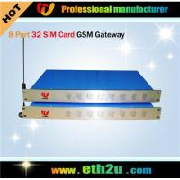 Quality GSM Gateway (8 channels with 32 sim cards) ETH-0832 for sale
