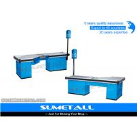 Buy cheap Electric Motor Conveyor Belt Checkout Counter , Store Cash Counter Table Customized Design product