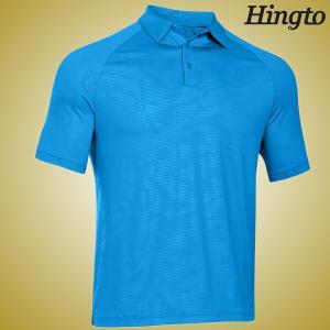 China Durable 100 Cotton embroidered Polo Shirts ,  Light Blue Polo Shirt on sale