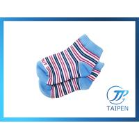 Buy Custom Striped Colorfull Organic Cotton Rib Knit Non Skid Baby Ankle Socks at wholesale prices