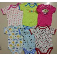 Quality kids mixed in stock assorted short sleeve baby boxer boy girl cotton summer onesie Singapore cheap rompers for sale
