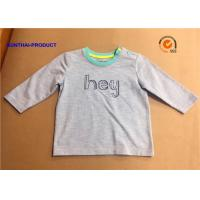 Buy Fashion Custom Toddler T Shirts , Hey Graphic Print Baby Boy Long Sleeve Tops at wholesale prices