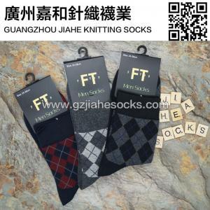 Quality Argyle Business Men Socks Custom Design Cotton Socks for sale