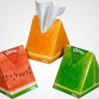 Colorful Eco Triangle Cardboard Boxes Fruit Shaped For Tissue Paper Packaging