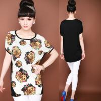 China Woman's Scoop Neck Print Tee Shirt on sale
