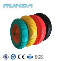 Buy cheap 6 inch to 16 inch diameter any color solid pu industrial wheels from wholesalers