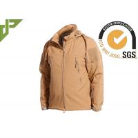 Quality Khaki Military Tactical Jackets Polyester Soft Shell Waterproof for Women / Men for sale