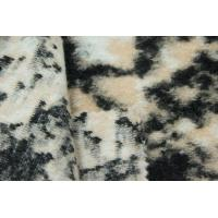 Quality Polyester Acrylic Wool Blend Stretch Faux Fur Fabric Customized Width for sale