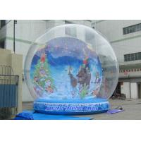 Buy cheap Holiday Backdrop Inflatable Snow Globe Durable PVC For Promotion Event from wholesalers