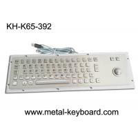 Quality Ruggedized Industrial Metal SS Keyboard with Trackball For Accuate Pointing Device for sale
