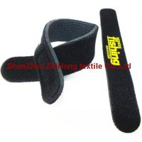 Quality Logo waterproof Diving fabric Velcro  hook loop cable tie binding straps for sale